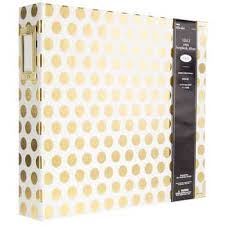 3 ring photo album 12 x 12 gold polka dot 3 ring scrapbook album cards kits