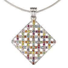 coloured crystal necklace images Swarovski crystal multi coloured pendant necklace swarovski jpg