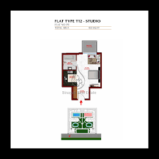 Floor Plan Flat by Apartments Studio Flat Type T12 Floor Plan