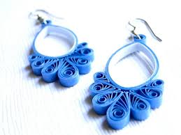 handmade paper earrings blue earrings handmade dangle earrings lovely jewels paper