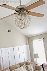 add a drum shade to your ceiling fan in 5 minutes drum shade ceiling fan light makeover little brick house