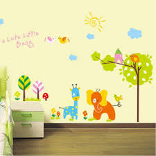 Jungle Wallpaper Kids Room by Cute Cartoon Animals Zoo Jungle Wall Decal Easy To Peel And