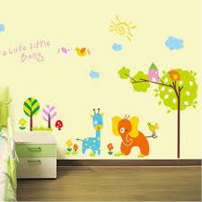 cute cartoon animals zoo jungle wall decal easy to peel and cute cartoon animals zoo jungle wall decal