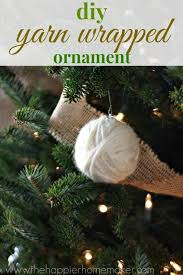 diy yarn wrapped ornament the happier homemaker