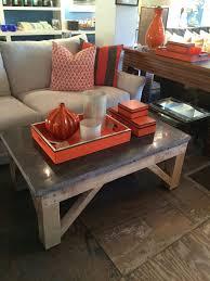 rustic bluestone and cedar coffee table mecox gardens