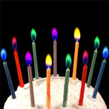 12pcs box multicolour flame birthday candle home decoration