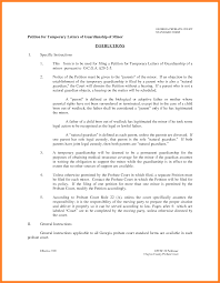 Power Of Attorney Guardianship Form 10 permanent guardianship letter template adjustment letter