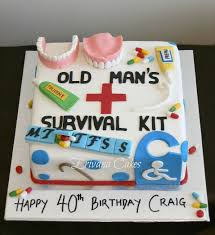 old age survival kit cake cakes and cupcakes pinterest