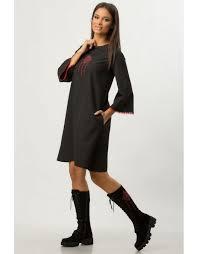 rochie etno rochie neagra a line cu broderie etno cbm1275 colors by