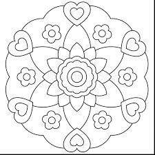 impressive rose window coloring page with free mandala coloring