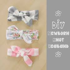 how to make baby headband knotted headband tutorial gift for newborns in leads