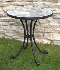 Garden Bistro Table Blue Metal Garden Bistro Table And Chairs Set Homegenies Garden