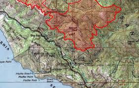 Big Sur Map Soberanes Fire Week Three Xasáuan Today