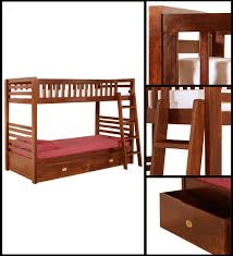 Solid Wood Bunk Beds With Storage Solid Wood Bunk Bed Concord Solid Wood Bunk Bed By Palace Imports