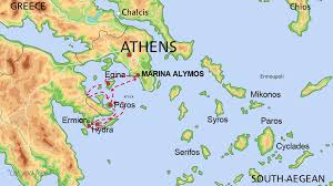 Greece Islands Map by Yacht Rent Greece Destinations Aa Charter Com