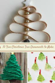 sweet silly 10 tree ornaments to make