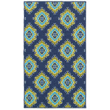 Outdoor Rug 3x5 by E111 Blue And Green Tile Rug At Home At Home