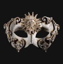 masquerade mask colombina barocco sole silver masquerade mask vivo masks