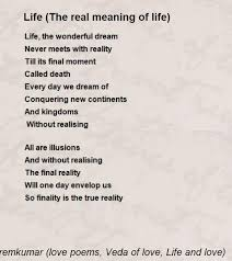 the real meaning of poem by c n premkumar poems