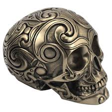 Celtic Skull - celtic skull bronze medium the celtic craft shop