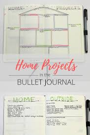 bullet journal home projects spread bullet journal and journaling