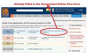 indian visa application process ckgs usa