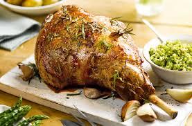 roast lamb with mint pesto sauce lamb recipes tesco real food