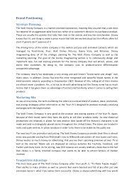 Disney Resume Example by Brand Management Walt Disney Case Study