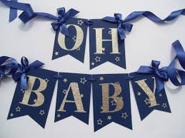 Blue And Gold Baby Shower Decorations by Navy Twinkle Baby Shower Banner Gold Baby Showers Shower