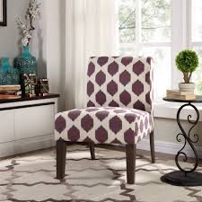 decor purple white accent chairs under 100 with side table and