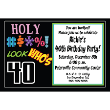 birthday invites chic 40th birthday party invitations design