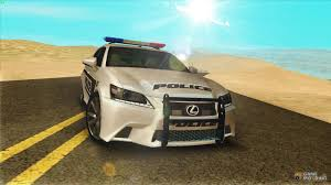 lexus f series is gs350 f sport series iv police 2013 for gta san andreas