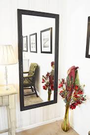 large antique design full length black wall mirror 5ft3 x 2ft5