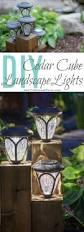 How To Do Landscape Lighting - diy cedar cube landscape lights diy solar light works and solar