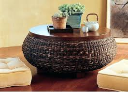 round wicker end table round wicker coffee table coffee table rattan coffee table with