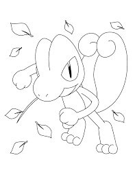 pokemon treecko coloring pages sketch coloring page