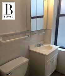 keeping colors calm a beautifully neutral bathroom makeover