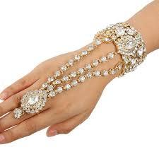 bracelet ring silver images Clear tear drop bridal bracelet ring set crystal bangle jpg
