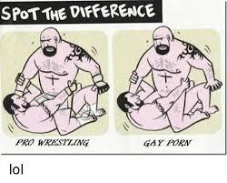 Gay Wrestling Meme - spot the dipference gay forw pro wrestling lol lol meme on me me