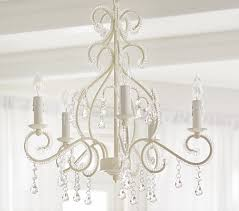 White Chandeliers White Lydia Chandelier Pottery Barn
