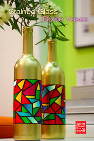 Stained Glass Vase Stained Glass Bottle Vases Handmade Holidays Blog Hop U2013 Jonathan