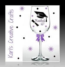 Graduation Wine Glasses Graduation Wine Glass Nailed It Graduate Personalized Wine