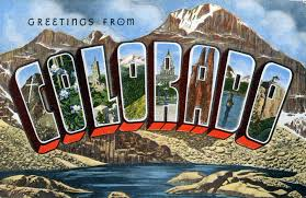 greetings from colorado large letter postcard production flickr