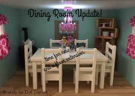 Dollhouse Dining Room Furniture Dollhouse Dining Room Update Chandelier And Floor Extension