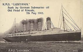 sinking of the lusitania lusitania of 1907 cunard line ocean liner postcards