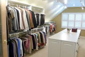 attic storage space custom walk in closet in pa