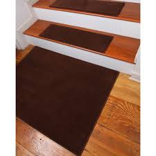 flooring brown non slip stair treads on wooden stepping stair for