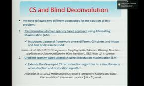 Blind Image Deconvolution Osa Compressive Sensing And Blind Image Deconvolution