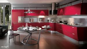 Red Kitchen Table by Kitchen Red Kitchen Cabinets Regarding Red Kitchen With Modern