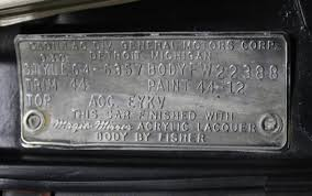body name plate decoded 63 64 cadillac website